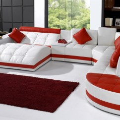 Amazon Sofa Set Tylosand Bed Covers Miami Contemporary Leather Sectional Tos Vt Ex6001 Sp