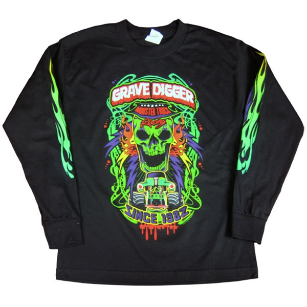 grave digger long sleeve poster tee