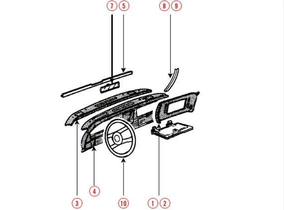 C3 1975-1979 CorvetteDashboard & Components