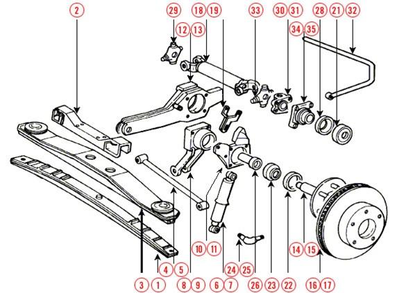 mini cooper suspension diagram 98 ford mustang fuse box c3 1975 1979 corvette rear