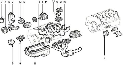 Corvette Parts 1985 1989 Engine Components And Engine Mounts