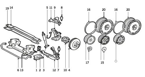 Corvette Parts 1985 1989 Wheels And Front Suspension