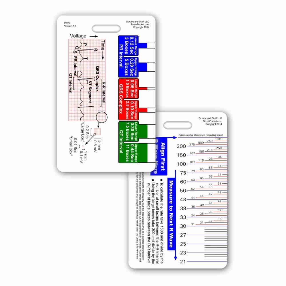 hight resolution of  array ekg ruler u0026 diagram reference card rh scrubpocket