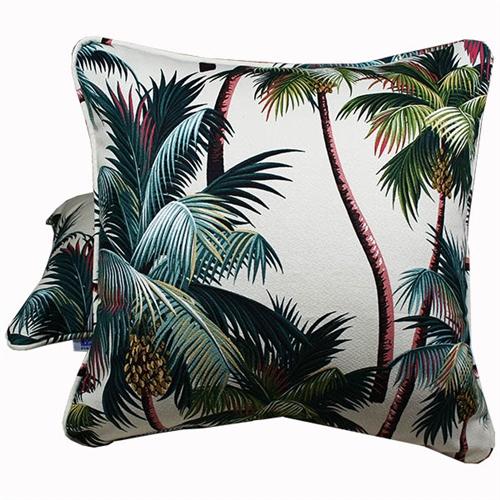 palm tree natural throw pillow 18 x 18