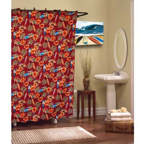 Red Shower Curtain Deanmillerprints Com