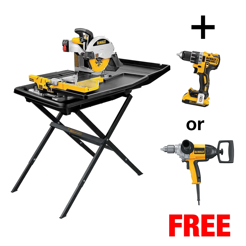 dewalt d24000s tile saw w stand free drill currently unavailalbe