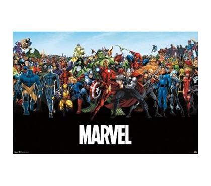 Marvel  The Lineup Poster College Supplies Dorm Shopping Essentials For Dorm Life Superhero