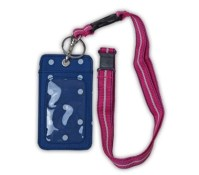 Preppy Dot Student ID Holder - Lanyard Style