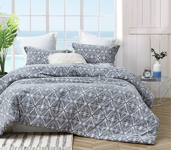 calypso navy twin xl comforter 100 yarn dyed cotton