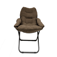 Tall Fishing Chair Heavy Duty Commode Brown College Furniture Club Dorm Plush And Comfortable Room Seating Essential Extra