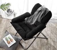 College Club Dorm Chair - Plush & Extra Tall - Black Dorm ...