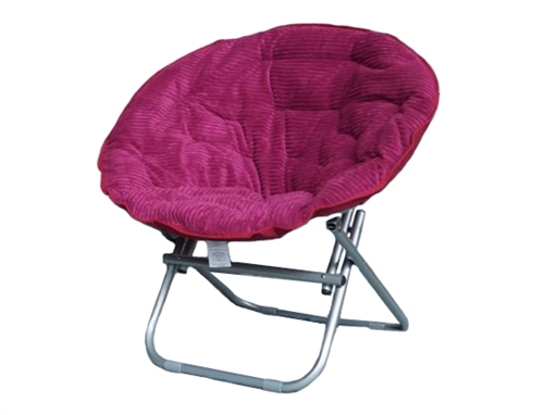Cheap  Comfortable Dorm Room Seating Options  Comfy Corduroy Moon Chair  Raspberry