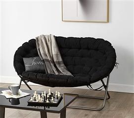 cheap dorm chairs camp high chair college seating furniture room sofa papasan black