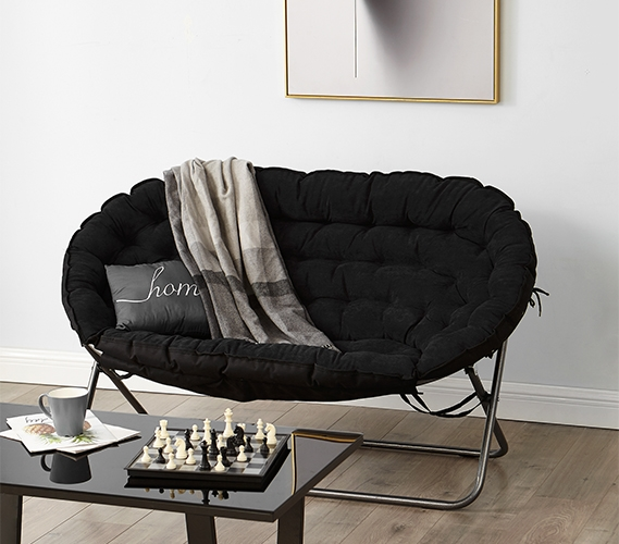 cool chairs for dorm rooms chair exercises seniors with arthritis papasan sofa black room furniture two college