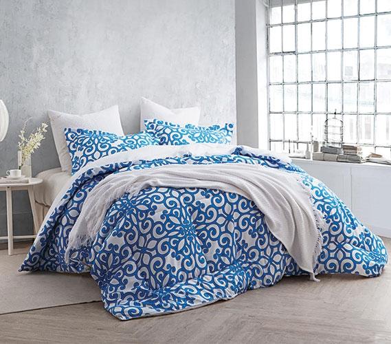 Crystalline Blue Twin XL Comforter Set  College Ave