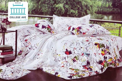 abstract twin xl comforter set college ave designer series