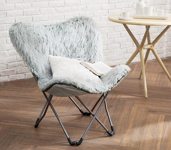 cool chairs for dorm rooms hydraulic salon chair repair unique fur butterfly stylish college furniture trendy gray seating eccentric glacier room