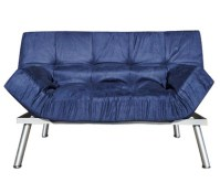 The College Cozy Sofa Mini-Futon Navy Dorm Furniture ...