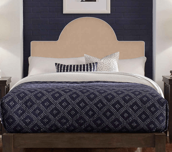perfect fit round headboard pillow taupe