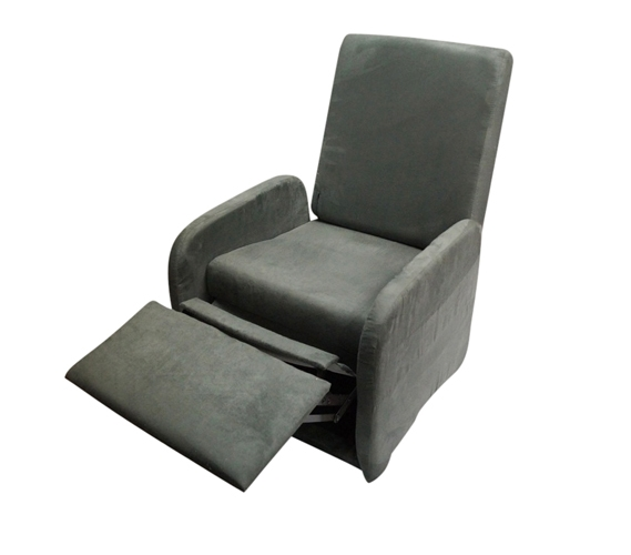 leanback lounger chairs folding chair the college recliner charcoal gray dorm furniture soft seating