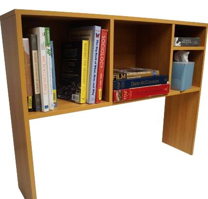 The College Cube  Dorm Desk Bookshelf