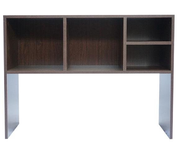 The College Cube  Dorm Desk Bookshelf  Dark Wood Dorm