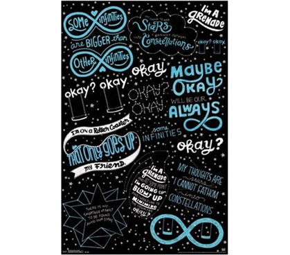 Tfios Wallpaper Quotes Fault In Our Stars Love Note Poster College Shopping