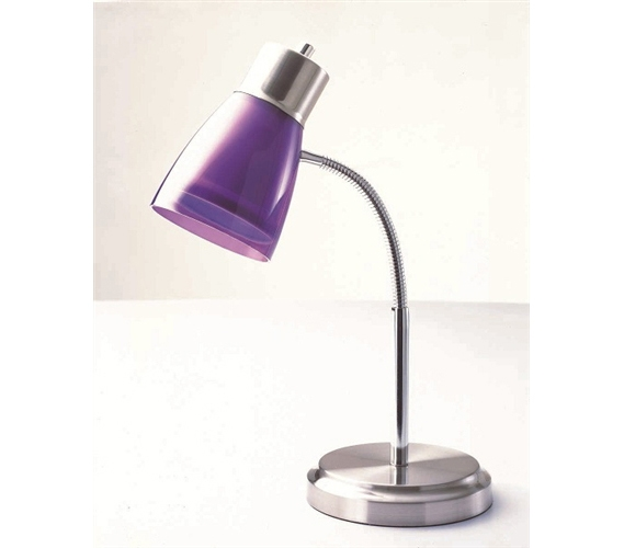 Gooseneck College Desk Lamp  Purple