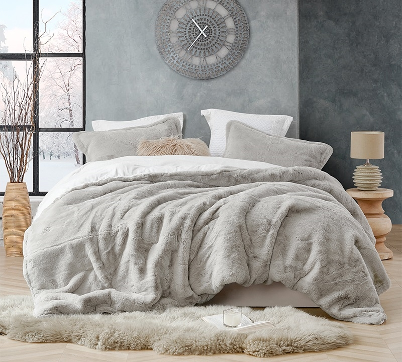 coma inducer oversized king comforter chunky bunny stone taupe