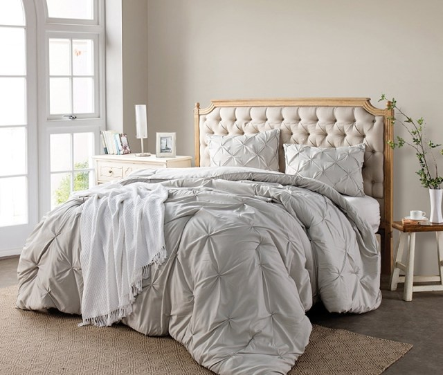 Silver Birch Pin Tuck Full Xl Comforter Softest Xl Full Bedding Sets