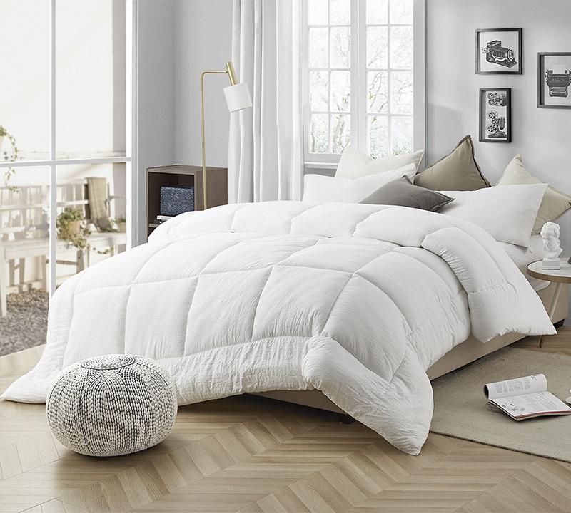 natural loft down alternative king comforter oversized king xl