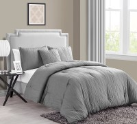 Buy King Size Comforter Sets Online - Crinkle 4PC King ...