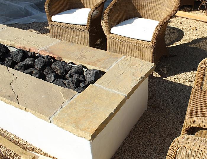 black cinders lava rock gravel