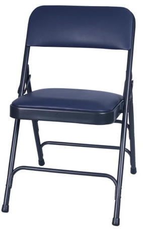 steel vinyl chair chaise lounge chairs ikea blue l folding free shipping padded discount metal