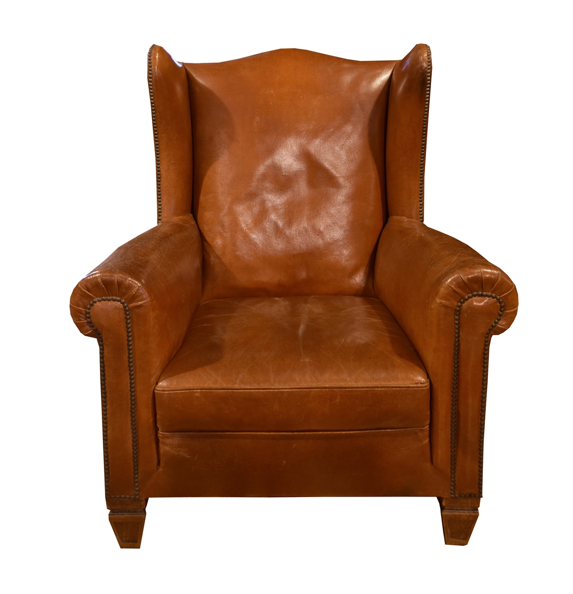 Brown Leather Wingback Chair Italian Leather Wingback Chair