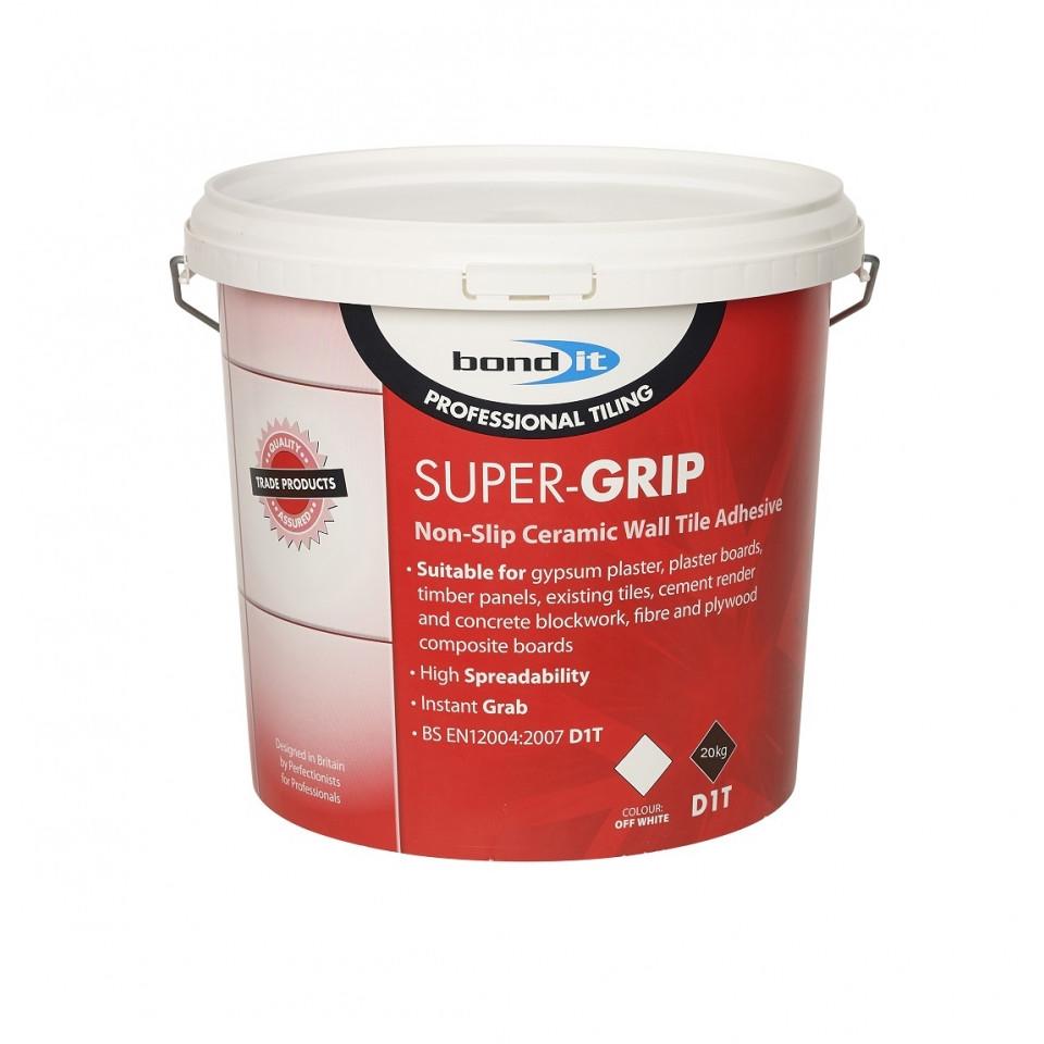 bond it non slip ceramic wall tile adhesive supergrip 13kg