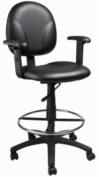 Boss B1691 Fabric or Leather Plus Drafting Chair Counter ...