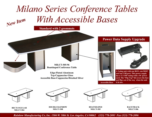 Conference Room Tables with Power and Data module ports