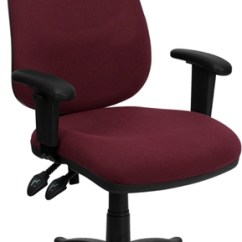 Ergonomic Computer Chair Bentwood Cafe Chairs Uk High Back Burgundy Fabric With Height Flash Furniture Adjustable Arms Bt 661 By Gg