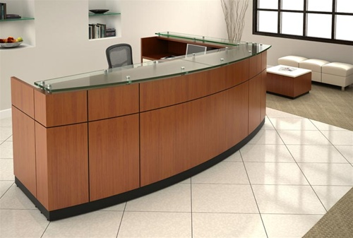 Friant Willow Series Custom Reception Lobby Desks