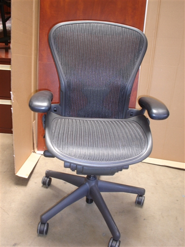 herman miller used office chairs travel high chair booster seats aeron in san diego but the popular b model or bigger seat c at up to 1 2 off price of new
