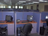"""Used Call Center Cubicles with 42"""" High Panels Office ..."""