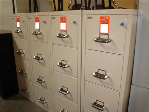 Used Fireproof File Cabinets at Office Furniture Outlet in San Diego