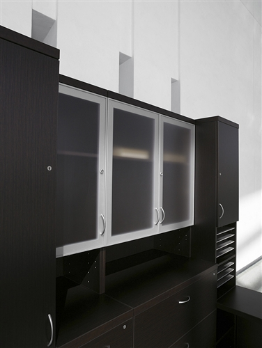 Global Zira DES DeskWorkstation in Dark Espresso by