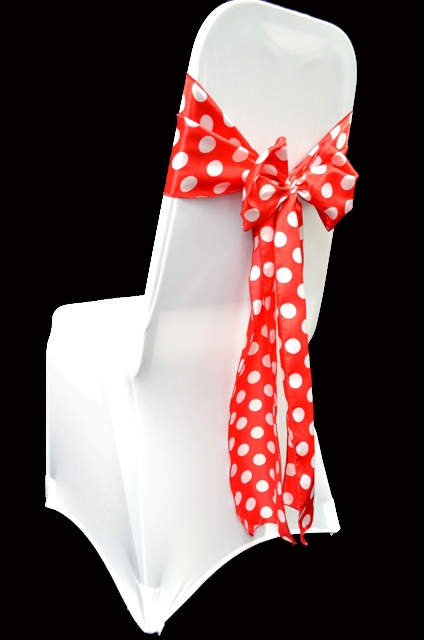 where to buy chair sashes grosfillex resin chairs high quality satin polka dot list price 3 00