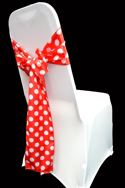 High Quality Satin Polka Dot Chair Sashes