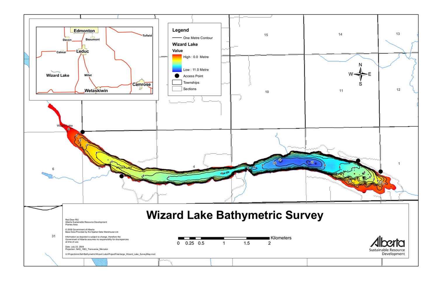 also wizard lake bathymetric chart rh maptown