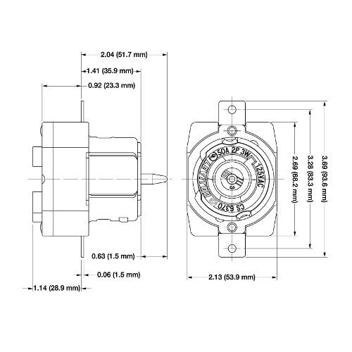 leviton 50 amp range receptacle wiring