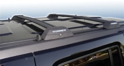 hummer h3 roof rack cross bars oem style w hummer letters inserts black bar finish