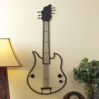 Metal Guitar Sculptural Wall Art at The Music Stand